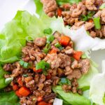 close up of chicken lettuce wraps