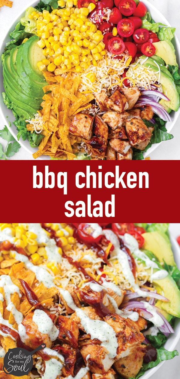 pin image design for bbq chicken salad
