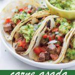 pin image design for carne asada tacos