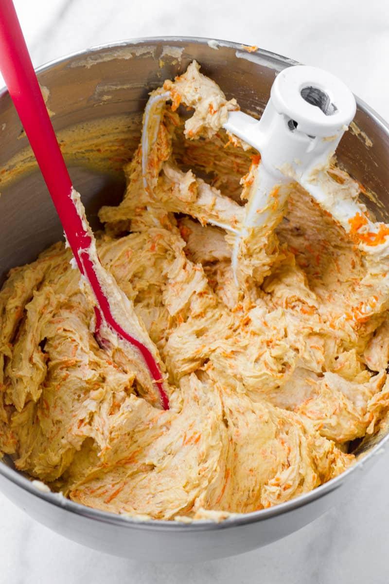 cookie batter with shredded orange