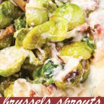 pin image design for Brussels Sprouts Au Gratin
