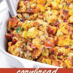 pin image design for cornbread stuffing recipe