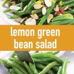 pin image for lemon green bean salad