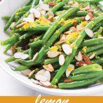 pin image design for lemon green bean salad