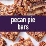 pin image design for pecan pie bars