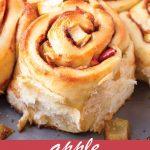 pin image design for apple cinnamon rolls