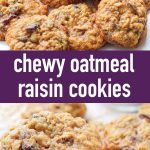pin image design for chewy oatmeal raisin cookies recipe