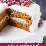 pin image design for gingerbread cake