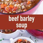 pin image design for beef barley soup recipe