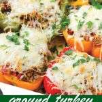 pin image design of ground turkey stuffed peppers