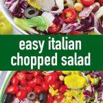 pin image design for Italian chopped salad