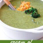 pin image design for cream of broccoli soup