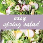 pin image design for fresh spring salad recipe