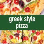 pin image design for greek style pizza recipe