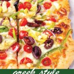pin image design for greek pizza