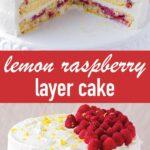 pin image design for lemon raspberry layer cake