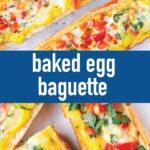 pin image design for baked egg baguette recipe