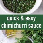 pin image design for chimichurri sauce