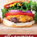 pin image design for all-american burgers