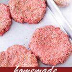 pin image design for burger seasoning recipe
