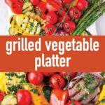 pin image design for grilled summer vegetables