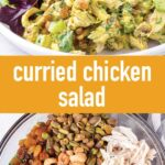 pin image design for curried chicken salad recipes