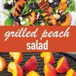 pin image design for grilled peach salad