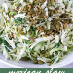 pin image design for mexican coleslaw recipe