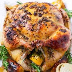 Rosemary Roasted Whole Chicken
