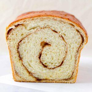 inside of a cinnamon swirl bread