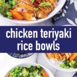pin image design for chicken teriyaki rice bowls