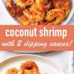 pin image for coconut shrimp recipe