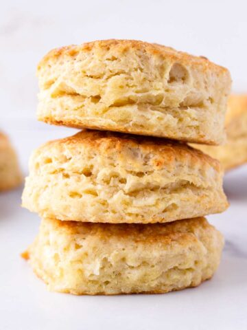 stacked tender biscuits