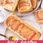 pin image design for puff pastry apple tarts