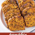 pin image design for pumpkin chocolate chip bread