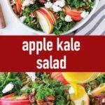 pin image design for apple kale salad recipe